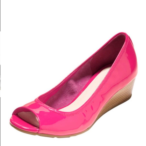 90e75c0cb7c3 Cole Haan Shoes - COLE HANN + NIKE Pink Wedge
